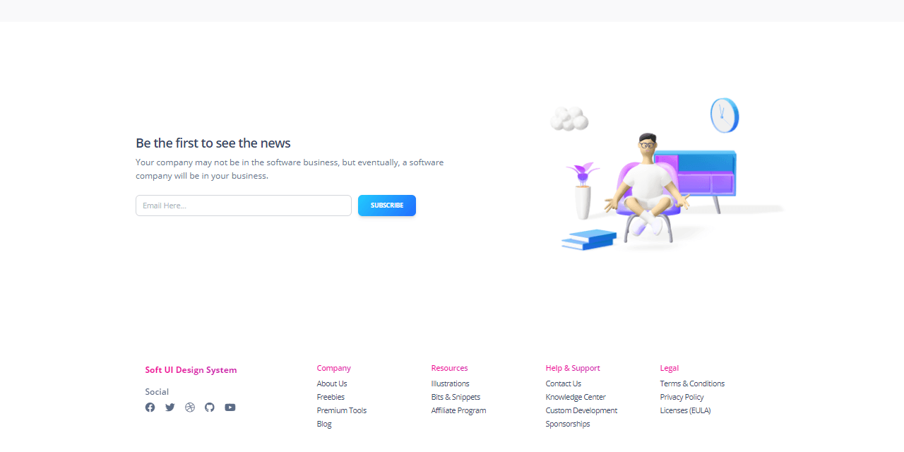 Eleventy Soft UI - Footer Section.