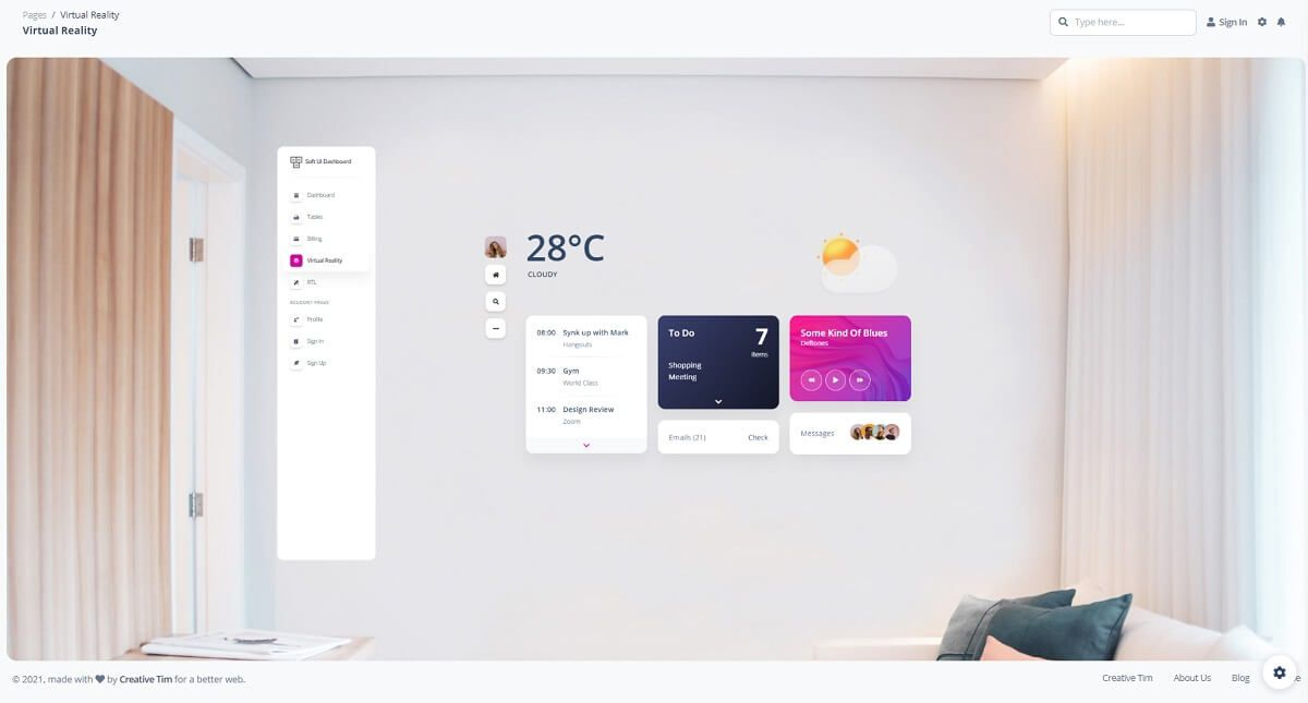 Flask HTML CSS Template - VR Page.